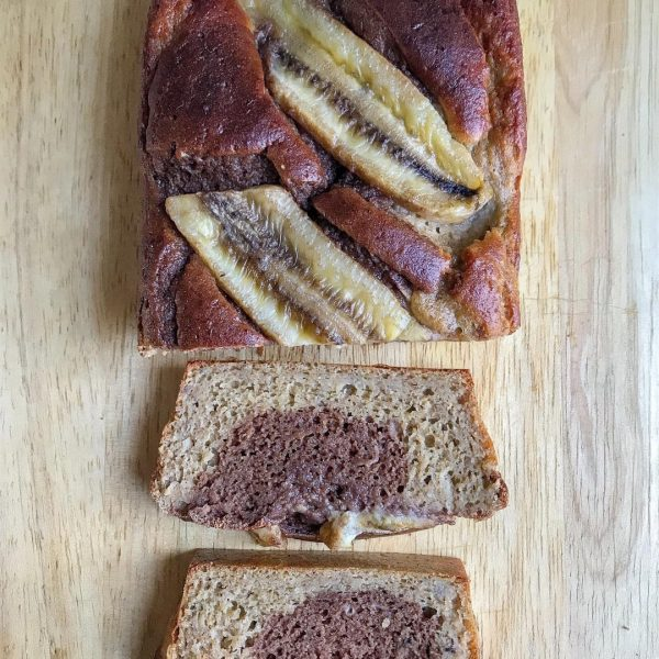Banana Bread marbré healthy