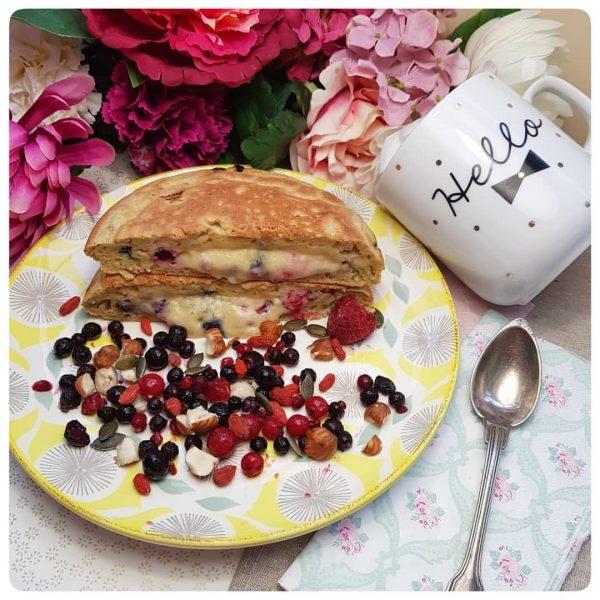 Big pancake aux fruits rouges