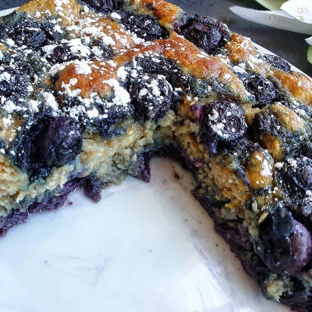 Recette de CAKE MYRTILLES HEALTHY
