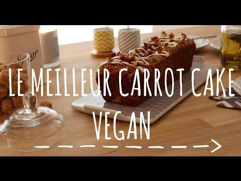 Recette de CARROT CAKE VEGAN (Végétalien)