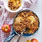 Retrouvez notre recette de Crumble pommes cannelle Vegan