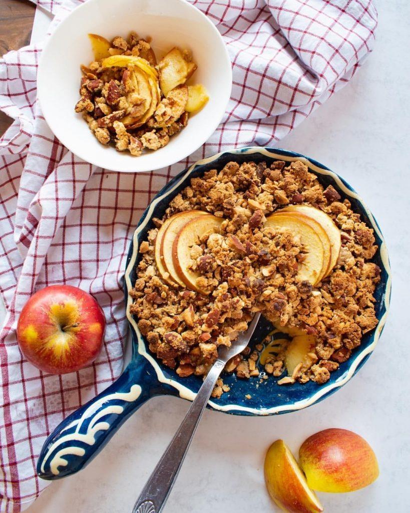 Recette de Crumble pommes cannelle Vegan