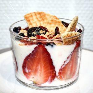 Recette de Dessert aux fraises healthy