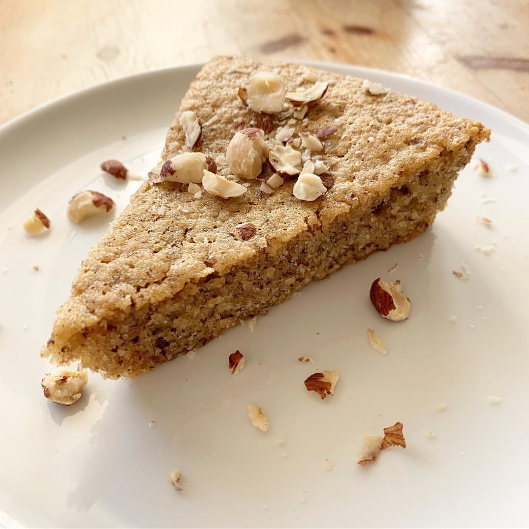Recette de Gâteau mœlleux aux noisettes healthy