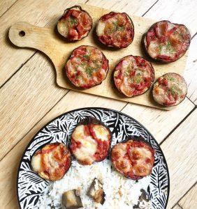 Recette de Minis pizzas aubergines sans pâte