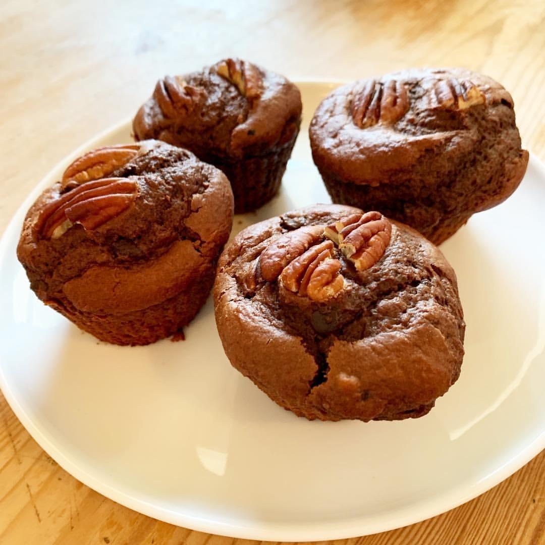 Recette de Muffins choco et pécan healthy