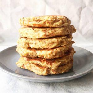 Une bonne recette de Pancakes pomme noisette healthy comme on les aime !