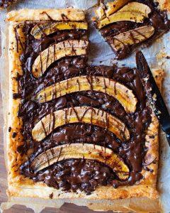 Recette de Tarte banane & chocolat fondant