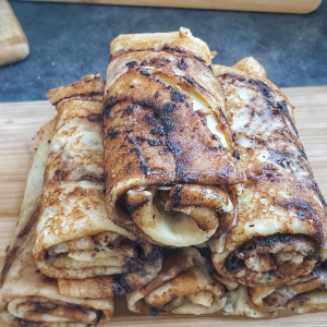 Crêpes marbrées à la pâte à tartiner