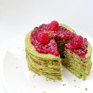 Pancakes protéinés aux épinards sans gluten
