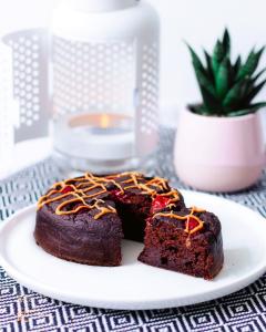 Gâteau au chocolat healthy à la compote