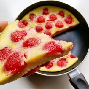 Clafoutis aux fraise à la poêle