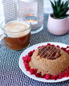 Bowl cake healthy à la compote de pomme
