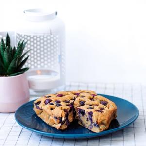 Cake vanille et myrtilles simple et efficace