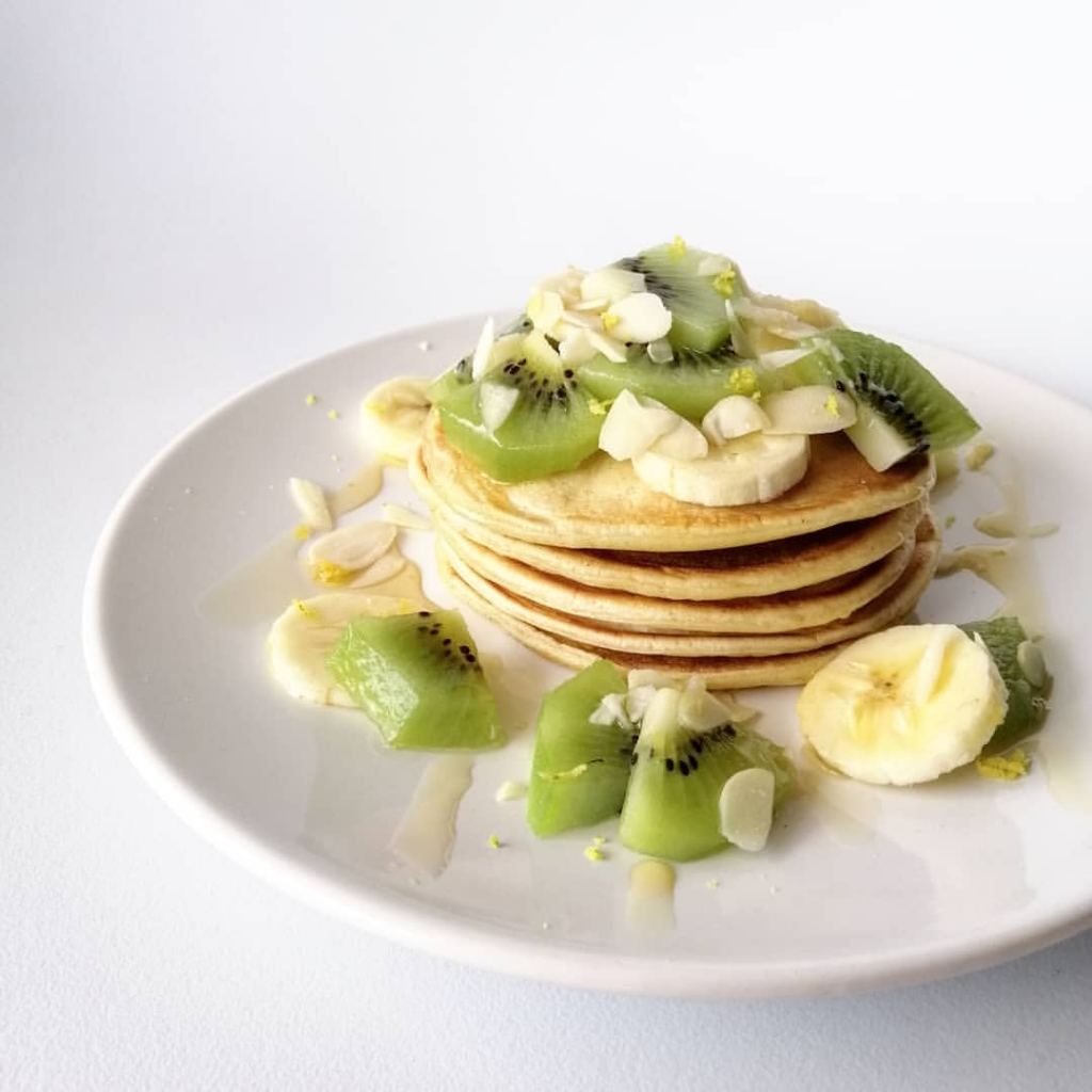 Pancakes au fromage blanc healthy