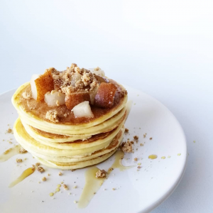Pancakes healthy au fromage blanc