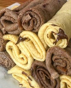 Crêpes healthy chocolat/lemon