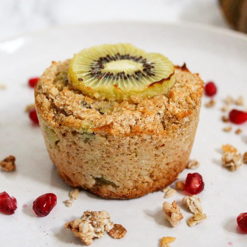 Mini cake vegan kiwi et noix de coco