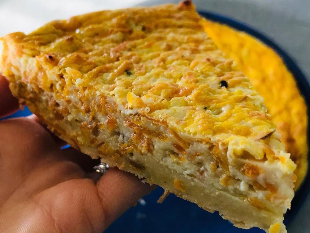 Recette de Quiche sans pâte carottes chèvre oignons