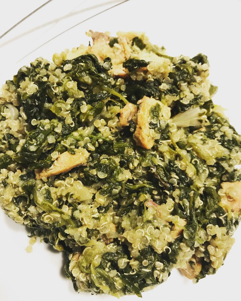 Recette de risotto quinoa épinards et saumon