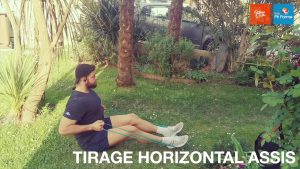 TIRAGE HORIZONTAL ASSIS à L'ELASTIQUE