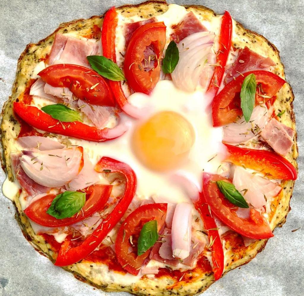 Pâte à pizza à base de chou fleurs