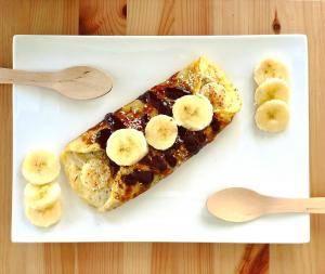 omelette sucrée à la banane