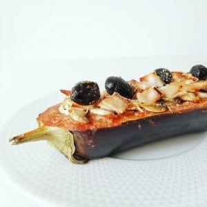 Aubergine façon pizza healthy