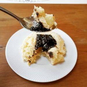 Bowl cake poire coco